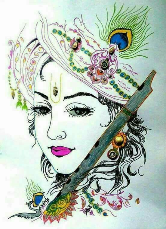You The Most Beautiful My Lord Lord Krishna Hd Wallpaper Krishna Drawing Radha Krishna Art