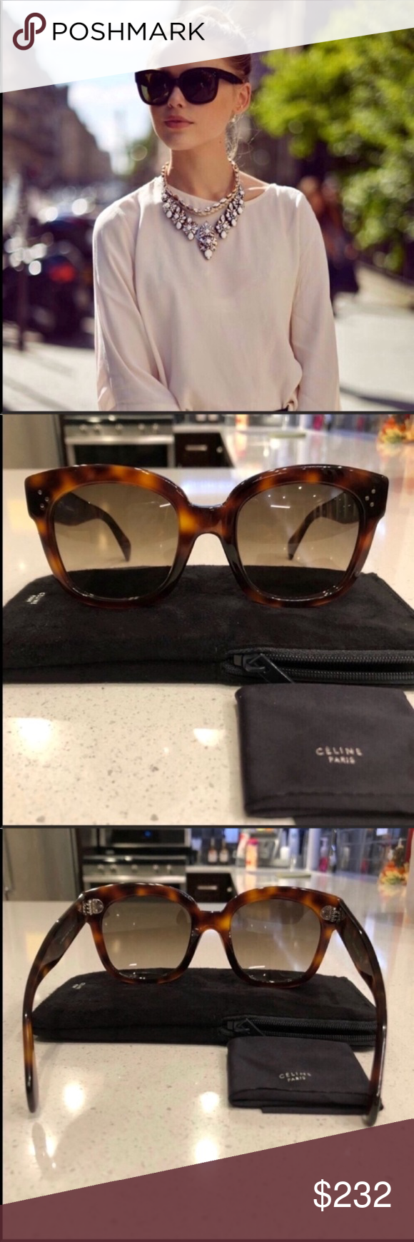 b31ae74124f 100% authentic Includes original Celine case and Celine cloth. Please no  low ball offers! Celine Accessories Sunglasses