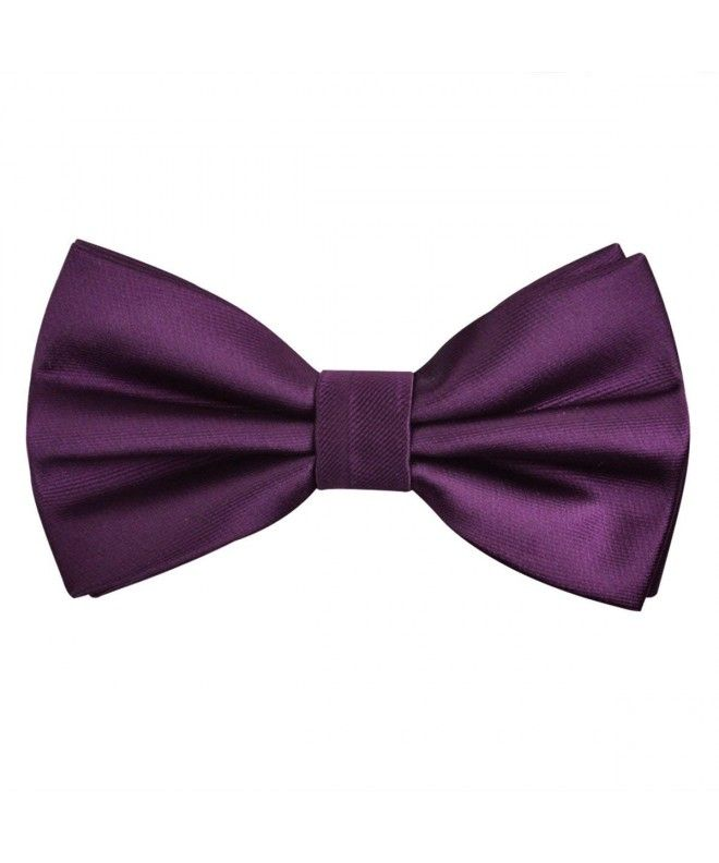 704c808ad9a1 Classic Pre-Tied Bow Tie Formal Solid Tuxedo Bowtie for Men - Purple -  CW12M9MILL3