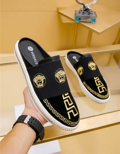 Versace Fashion Slippers For Men 680918 is part of Fashion slippers, Gucci men shoes, Versace slippers, Versace shoes, Dress shoes men, Versace fashion -