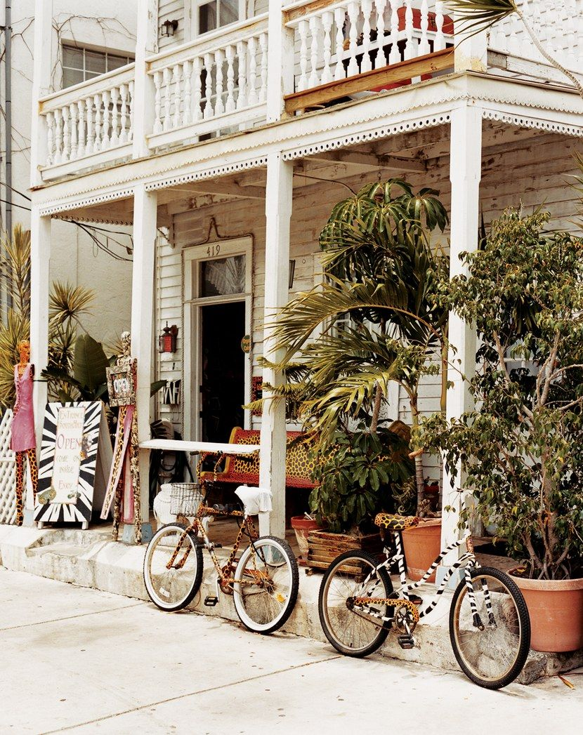 Typical of Key West, this Southard Street house has a store-front art gallery.