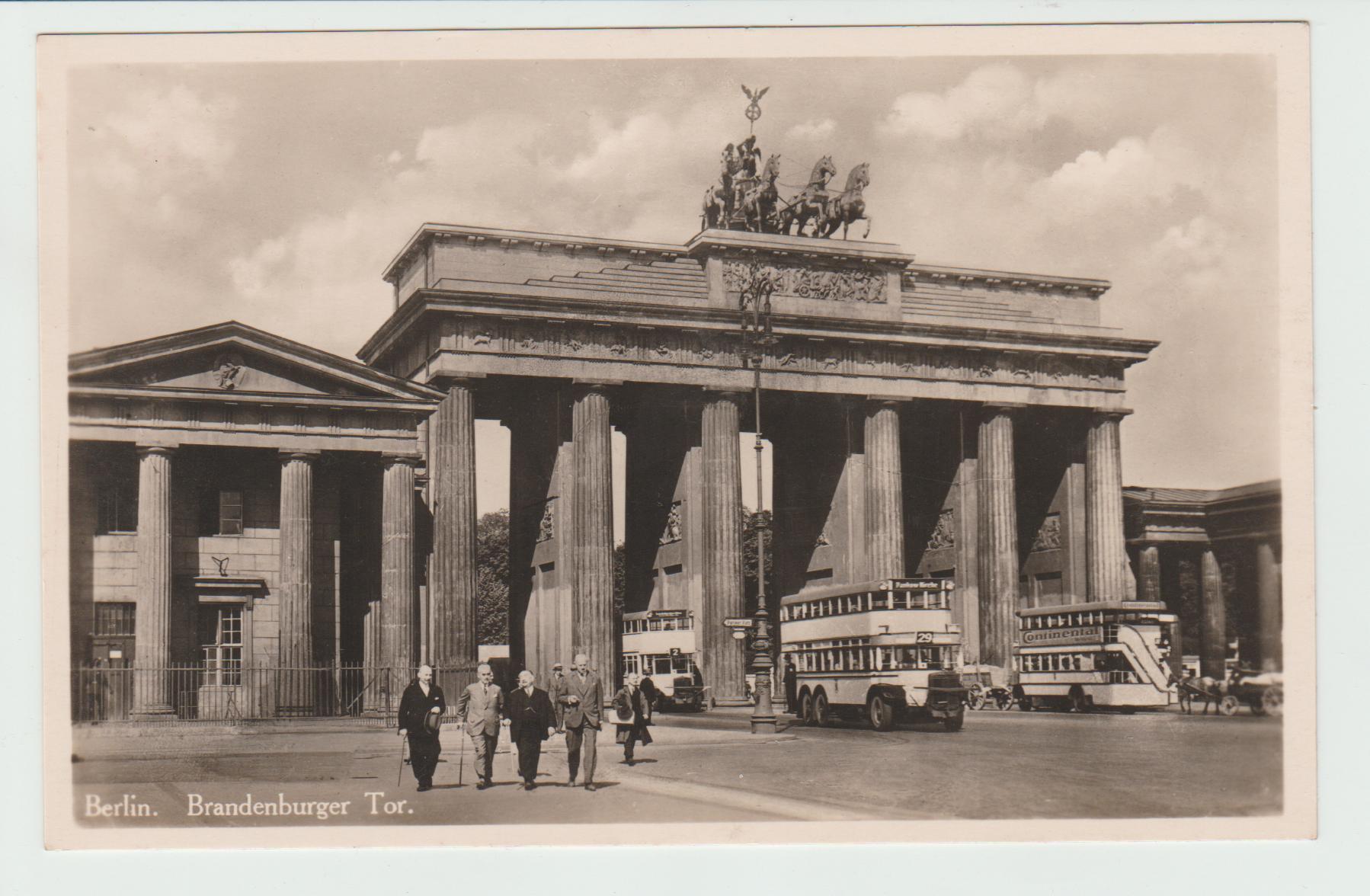 Sold Berlin Brandenburg Gate Brandenburger Tor Vintage Trams And Busses Vintage Strassenbahnen Und Busse Ech Brandenburg Gate Around The Worlds Postcard