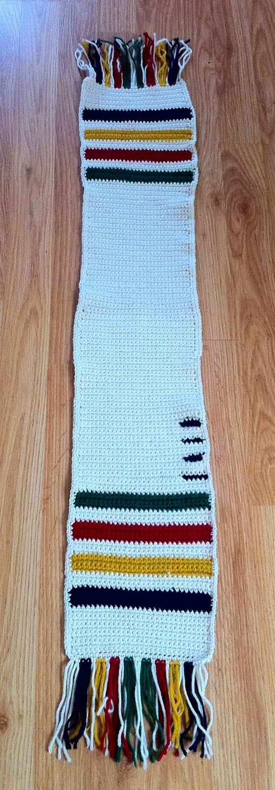 Hudsons bay blanket crochet scarf crochet pinterest blanket hudsons bay blanket crochet scarf bankloansurffo Image collections