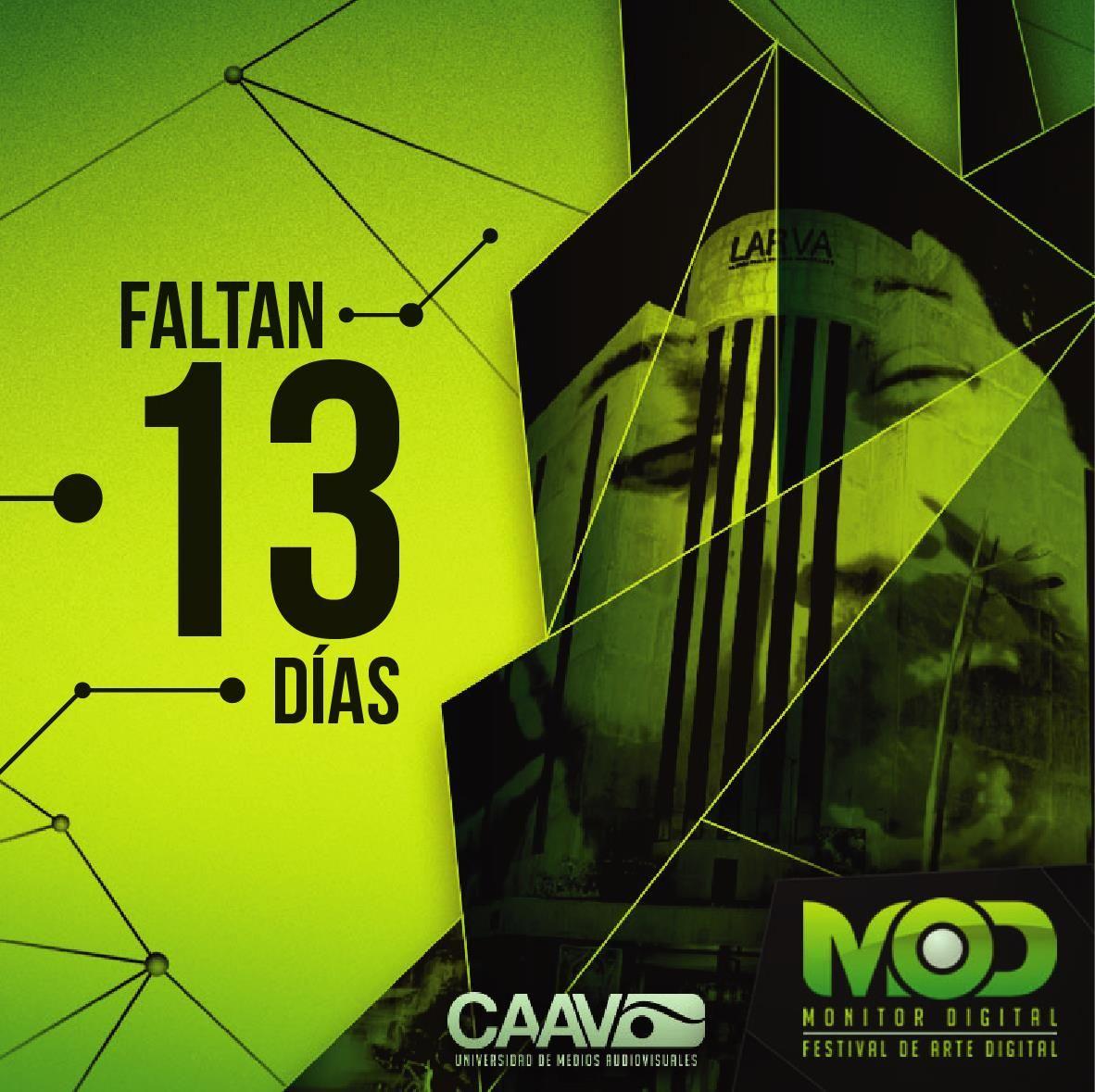 Quinto Festival Internacional de Arte Digital MOD del 24 al 29 de Septiembre en LARVA. http://monitordigital.com.mx
