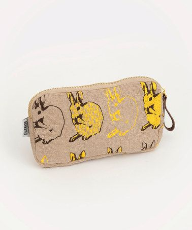 Take a look at this Yellow Bunny Zip Purse by Talented Totes on #zulily today!