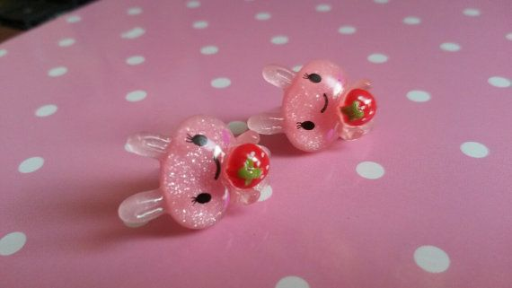 Happy Sparkle Bun Earrings by PrettyPenguinParty on Etsy