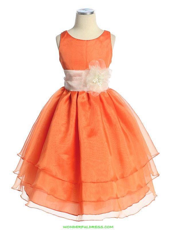 Orange organza flower girl dress future i do pinterest orange organza flower girl dress mightylinksfo