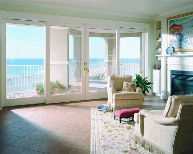 Andersen 400 Series Frenchwood Gliding Patio Doors Are Available In Two And Four Panel Configuration Patio Doors Sliding French Doors Patio French Doors Patio