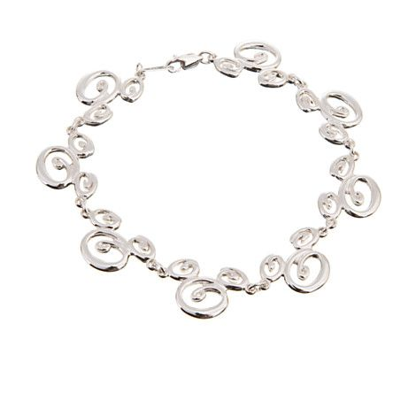 6cc0051bed22d Sterling Silver Swirl Mickey Mouse Bracelet | Jewelry | Disney Store ...