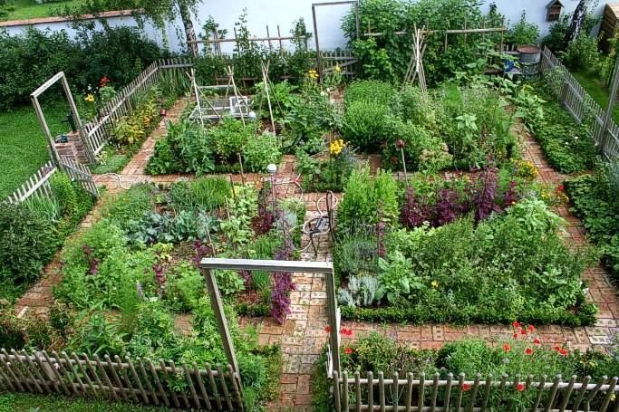 A beautiful and fertile vegetable garden by the water.   Potager ...