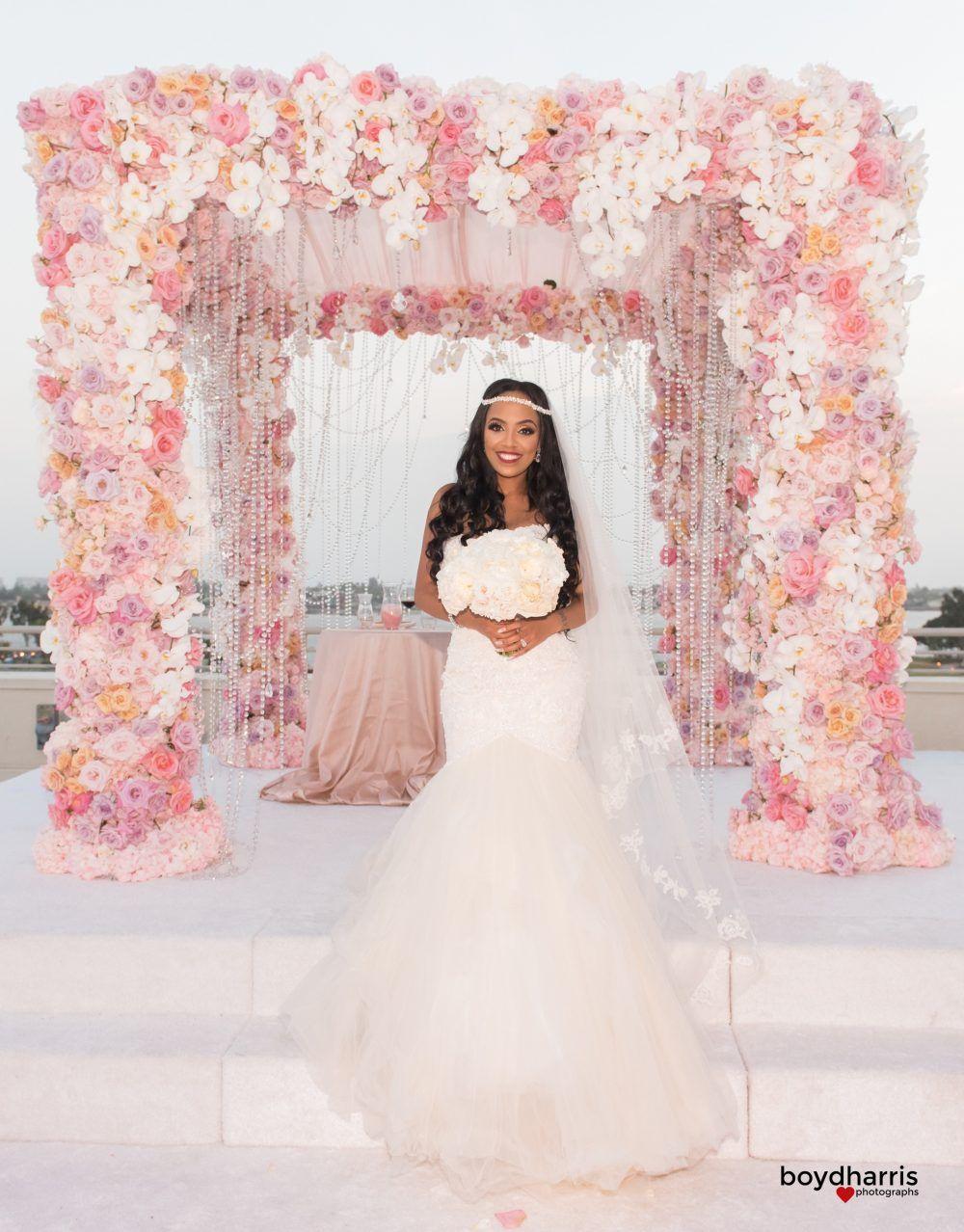 Grand Glamour – WAGS Miami Star Wedding – Blush Botanicals | San ...
