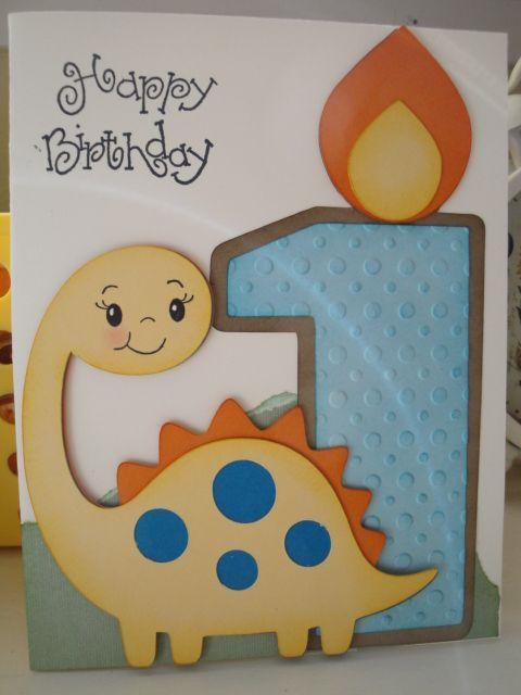 Pin By Pauline Rayner On My Creations Cricut Birthday Cards Happy Birthday Cards Printable 1st Birthday Cards