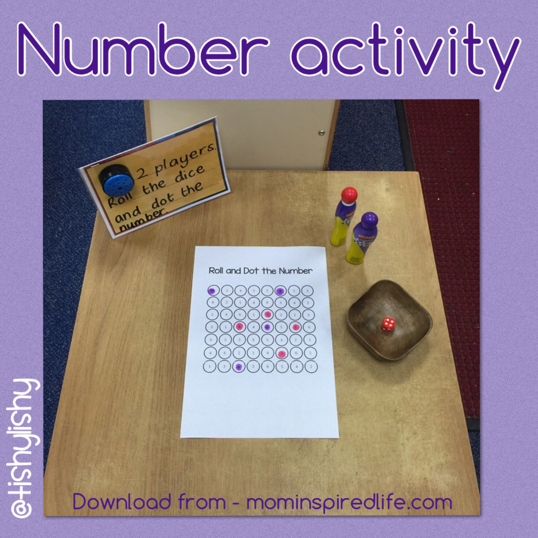 Number Challenge Roll The Dice And Dot The Number