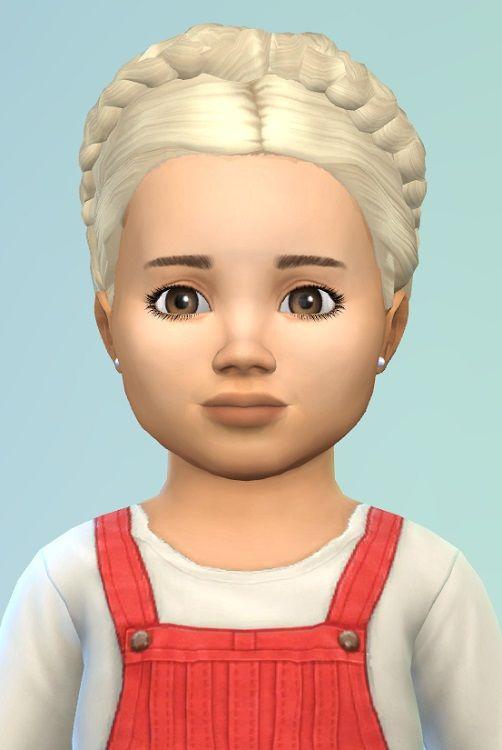 Birkschessimsblog Braidedhairwreath For Toddler Sims 4 Downloads