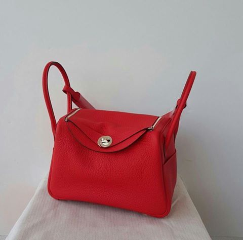 ... italy hermes lindy 26cm in rouge tomate colour fa462 1463e ... 6c60bbac1ff4f