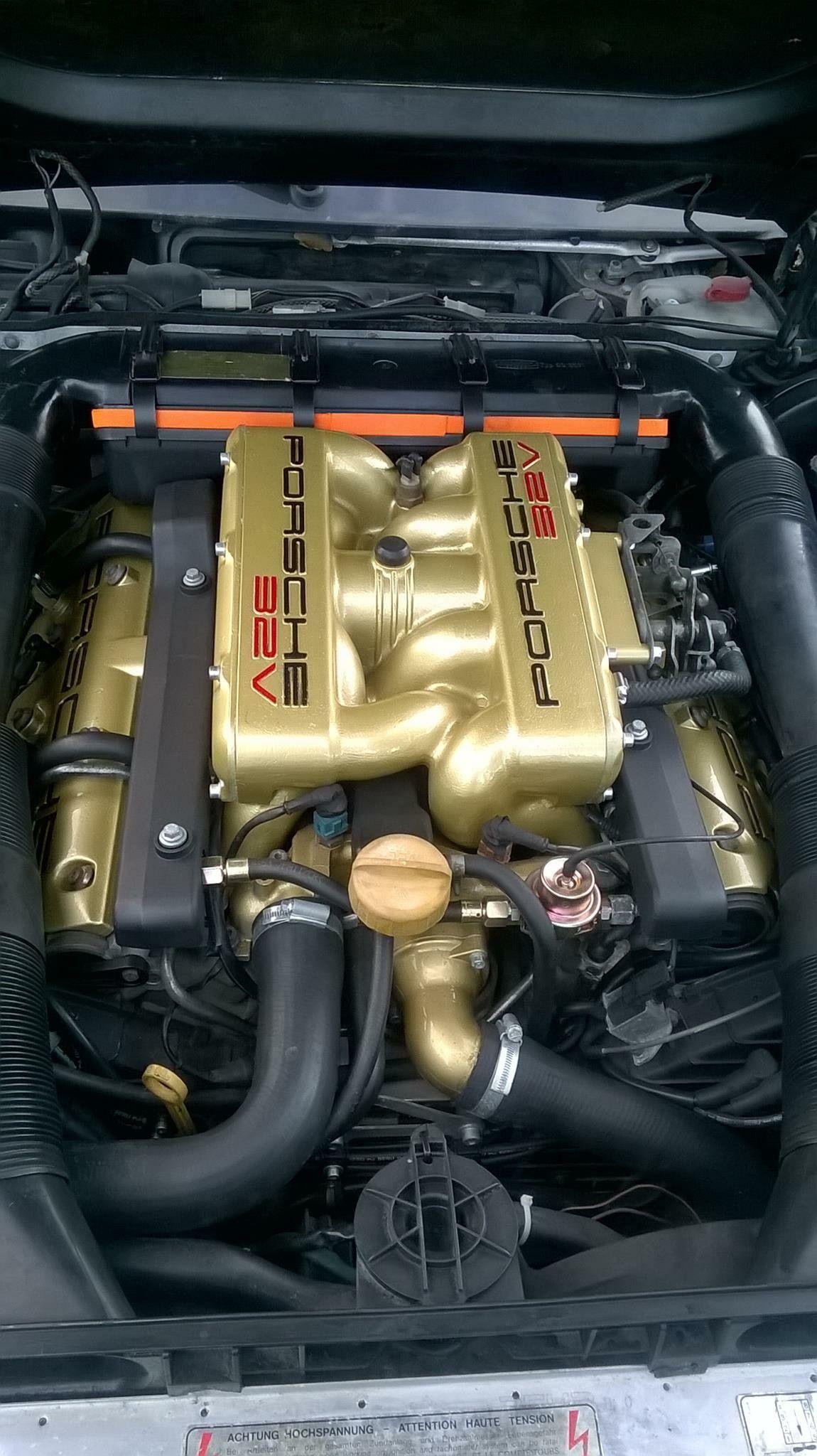 Porsche 928 32v Engine In Gold Porsche Transaxles Porsche 928