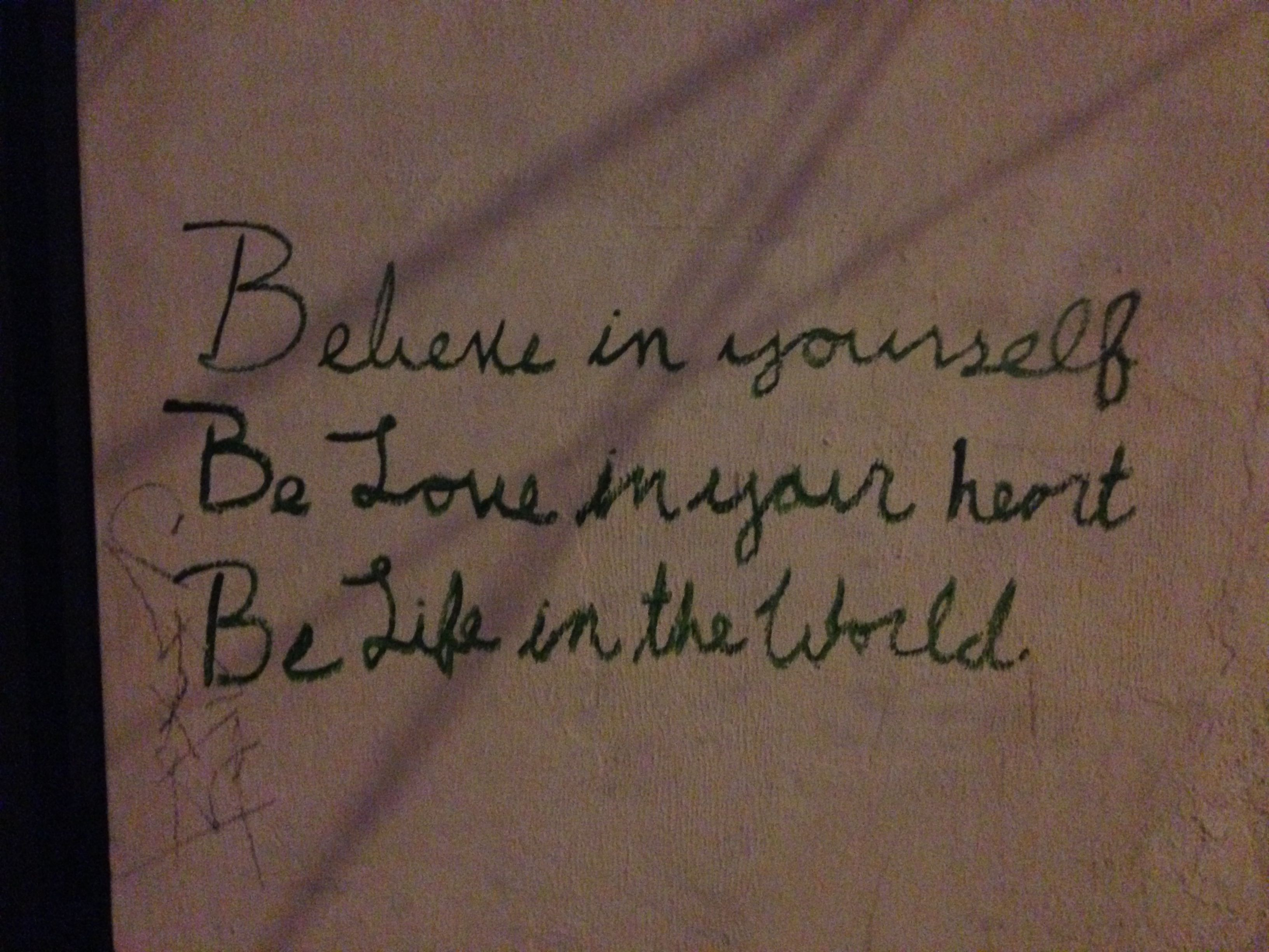 Quote on a wall in downtown Austin.