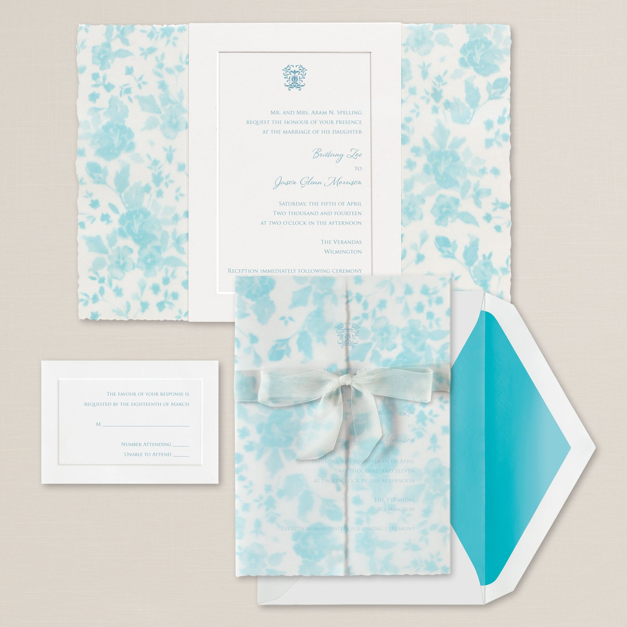 Wrapped in Roses Wedding Invitation (available in other colors ...