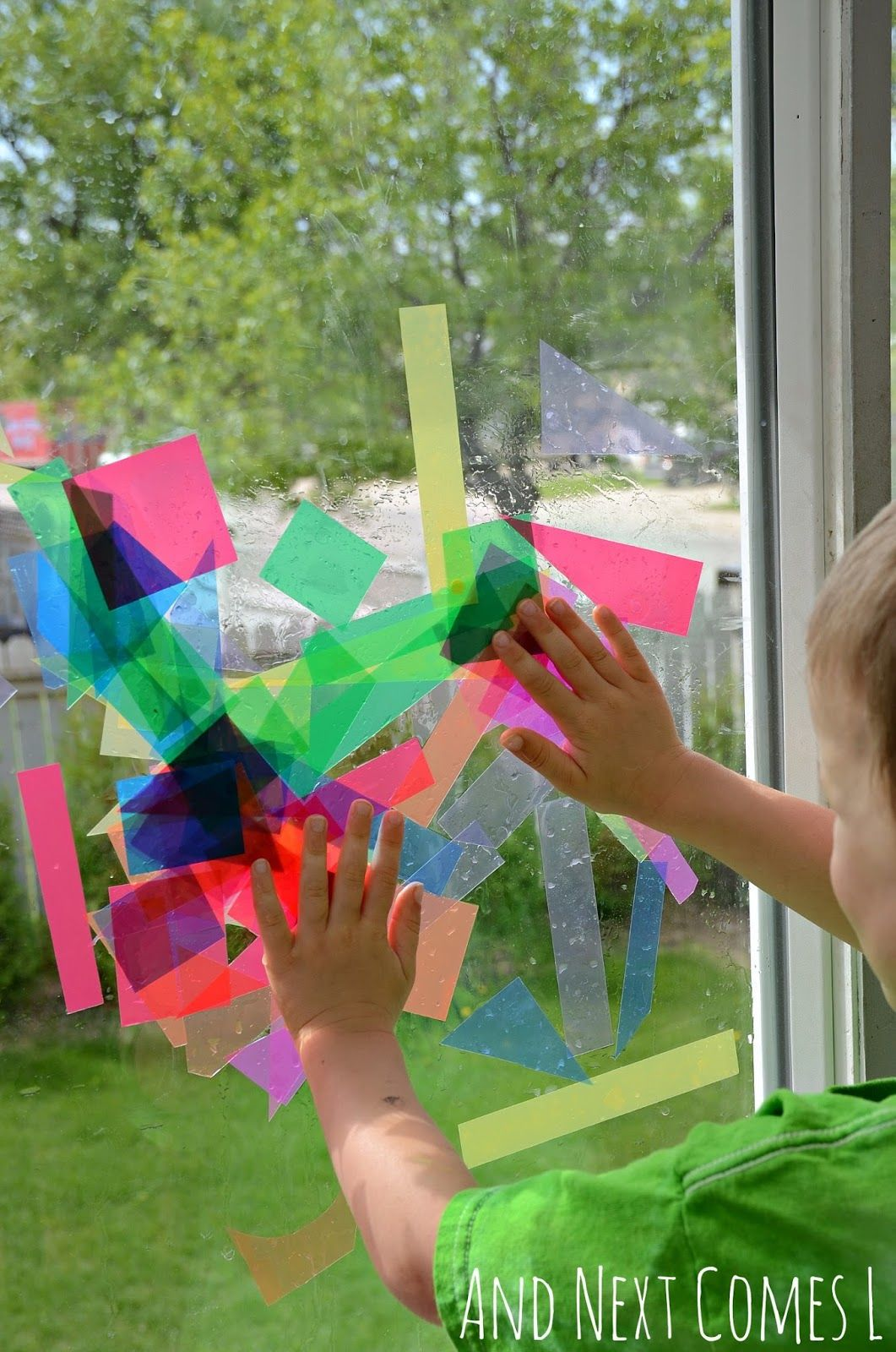 Kids Crafts Ideas At Home Part - 41: Donu0027t Worry U2014 Weu0027re Not Suggesting You Surrender Your Patio Doors To Your  Kidsu0027 Artistic Ambitions. This Activity Uses A Clever Dollar-store Find And  Just ...