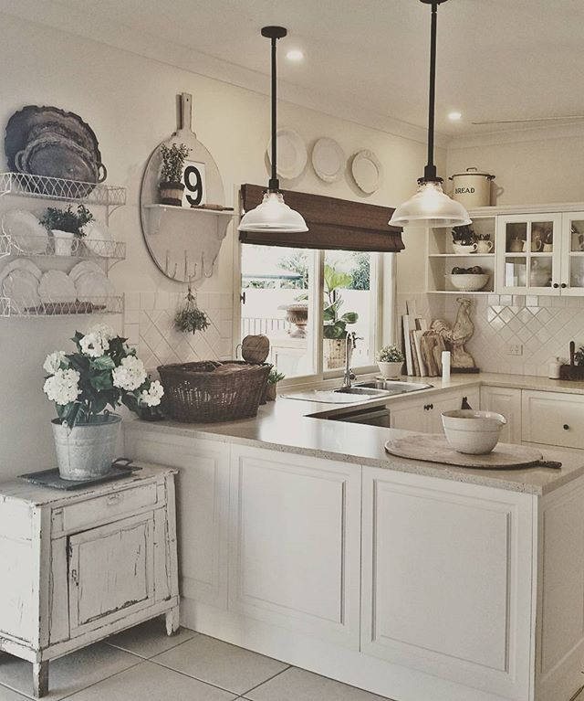Sharing my Kitchen for some fun Friday hastags!! I love my kitchen as it gets so much natural light...somehow though it never shows that in my pics! Probably cause I use my phone! #farmchicfriday #farmhousefindfridays #farmhousefridays #myfarmhousefix Would Becca @beccalevie and Cindy @thevintageroad like to share