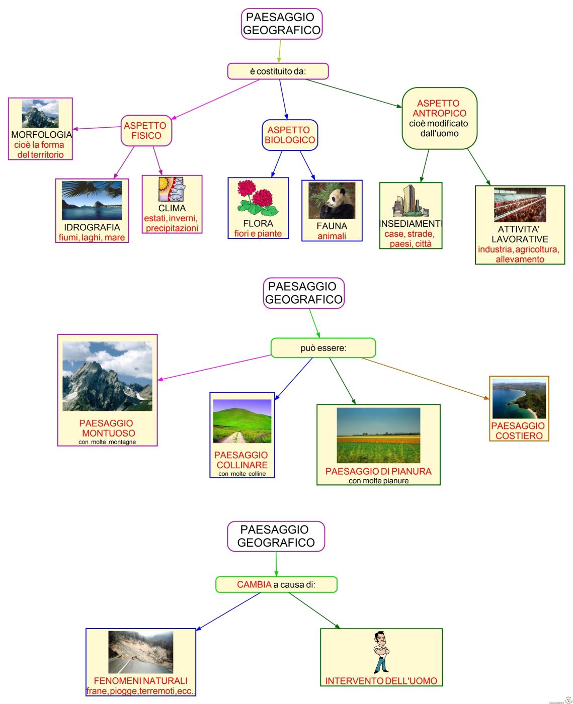 12 Paesaggio geografico  Istruzione  Classe