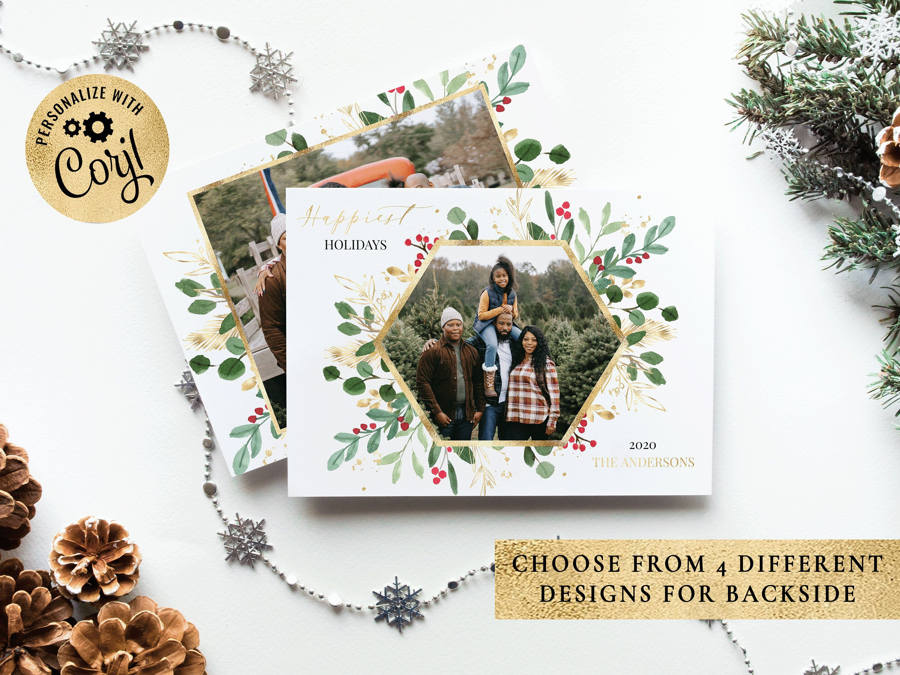 Christmas Card Template Christmas Cards Template 5x7 Photo Etsy In 2021 Christmas Card Template Holiday Card Template Christmas Photo Card Template