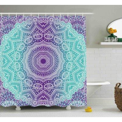Ebern Designs Janie Purple And Turquoise Hippie Ombre Mandala