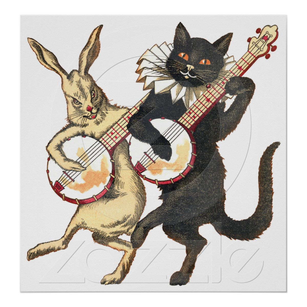 animals playing banjo -#main