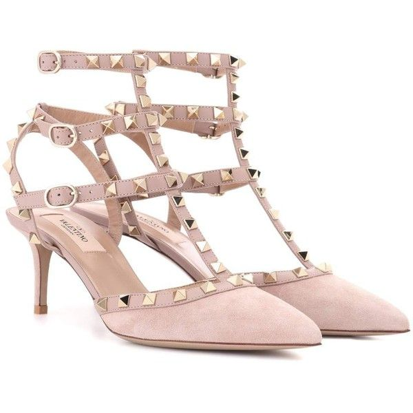 da543f8484d9 Valentino Valentino Garavani Rockstud Suede Sandals (1 220 AUD) ❤ liked on  Polyvore featuring shoes