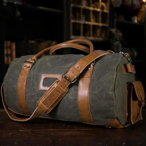 b2e15b0f63 Buffalo Jackson Trading Company Large Travel Duffle Bag - Waxed Canvas and  Leather
