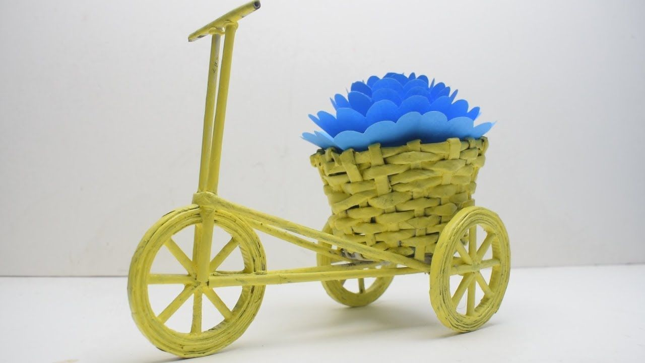 Tutorials Bikebicycle With Beautiful Decorative Basket Diy