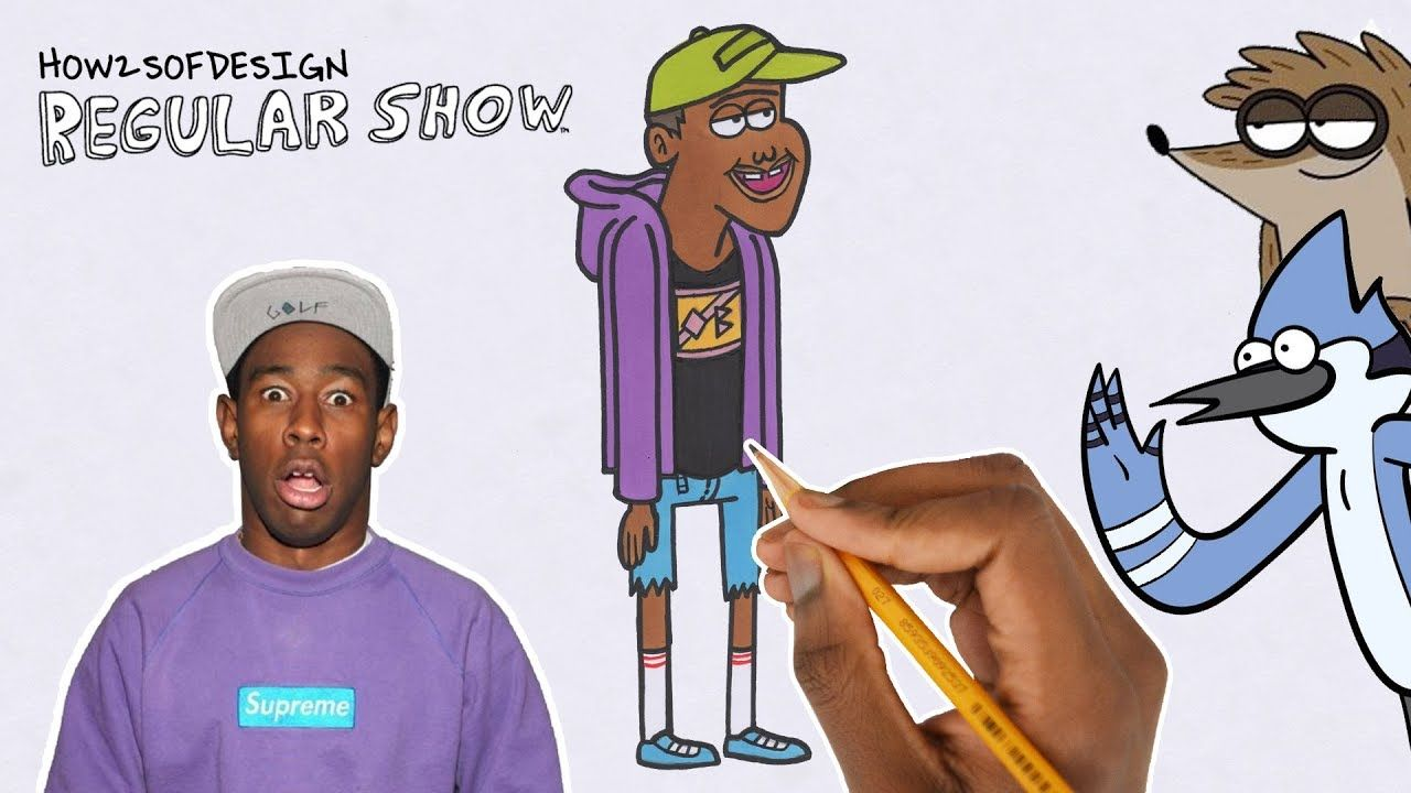 How To Draw Tyler The Creator In The Regular Show Tyler The Creator Regular Show The Creator