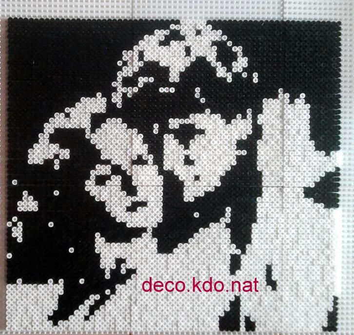 Dirty Dancing hama perler portrait by NAT42