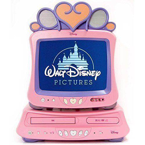 "Disney Princess 13"" Color TV, Dual Deck DVD Player And VCR"