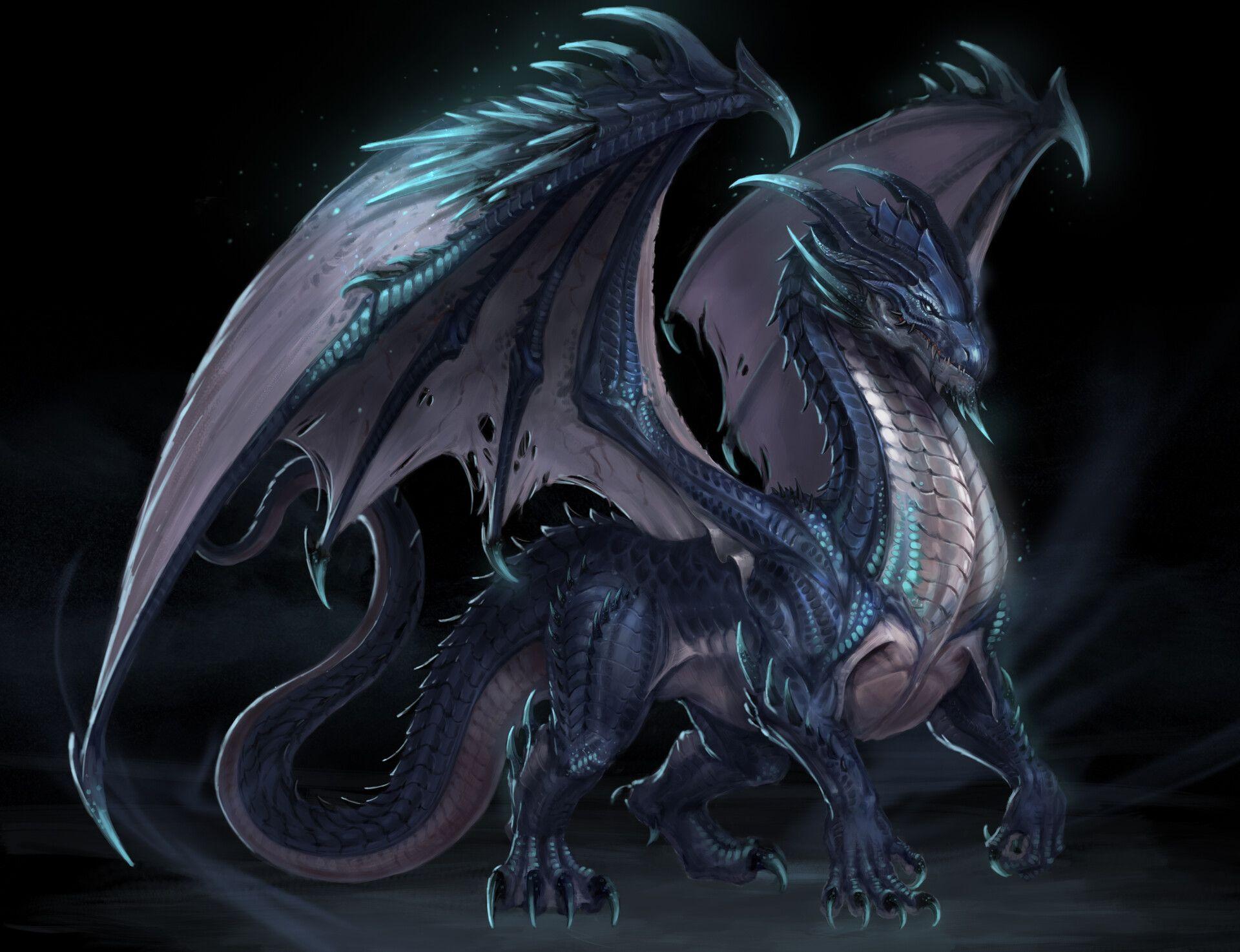 Dragon by harok lee Дракон, Картинки