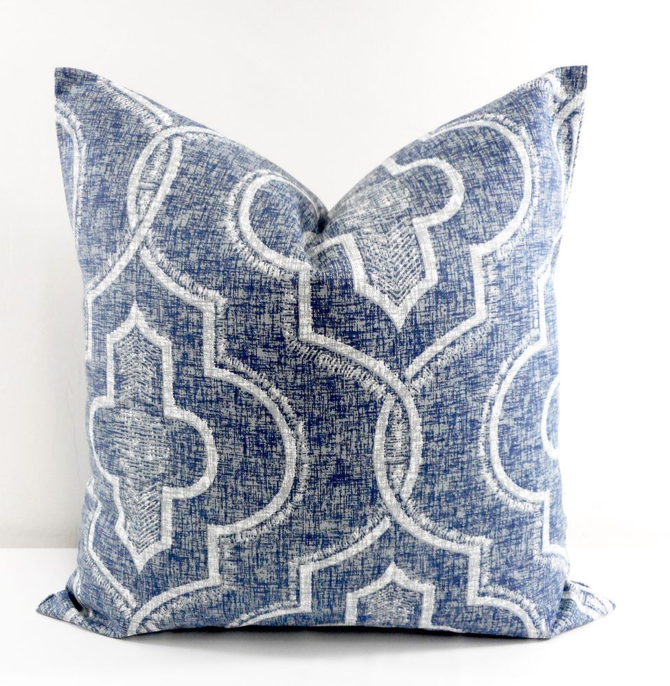 Newport Damask Print Pillow Cover Cotton Made In Usa Select Size