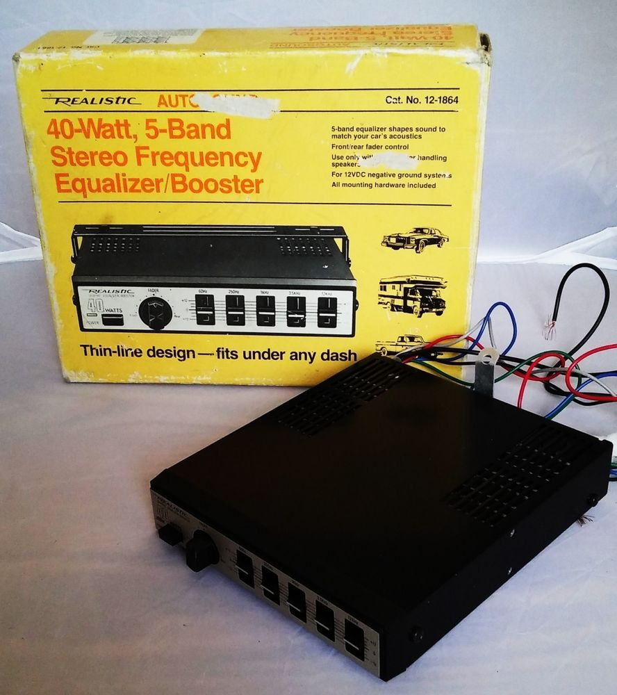 Realistic Autosound 40 Watt 5 Band Stereo Frequency