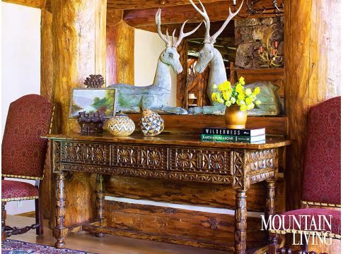 Delicieux Adirondack Style, Colorado House, Rustic, Western, Vintage Sculpted Deer,  Console Table