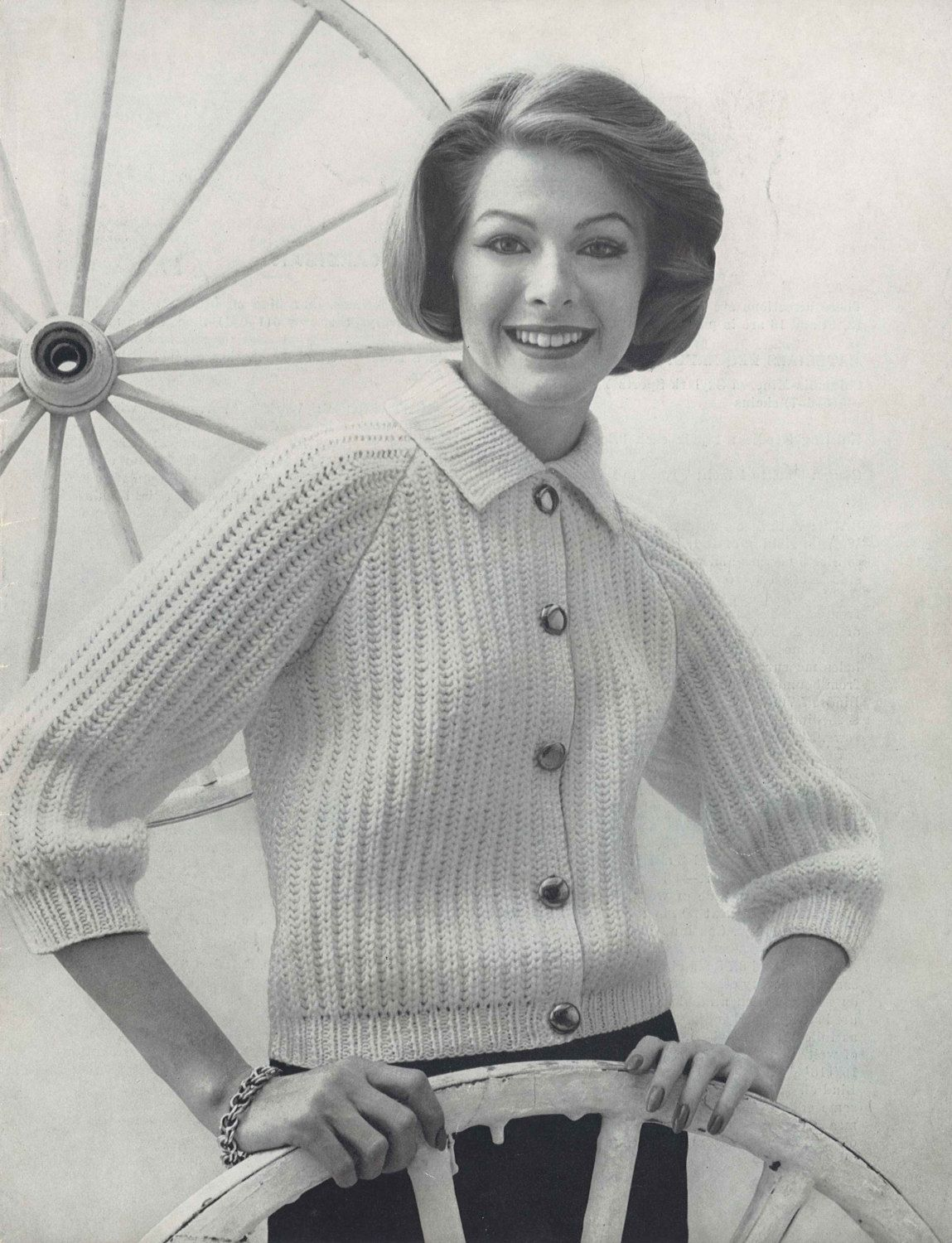 Brighton brioche 1950s knitting collared cardigan sweater jacket brighton brioche 1950s knitting collared cardigan sweater jacket top patterns 50s vintage pattern bankloansurffo Images