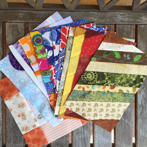 Destash 12 Orphan Quilt Block Set  67 x 10  Mug Rug by knjStudio