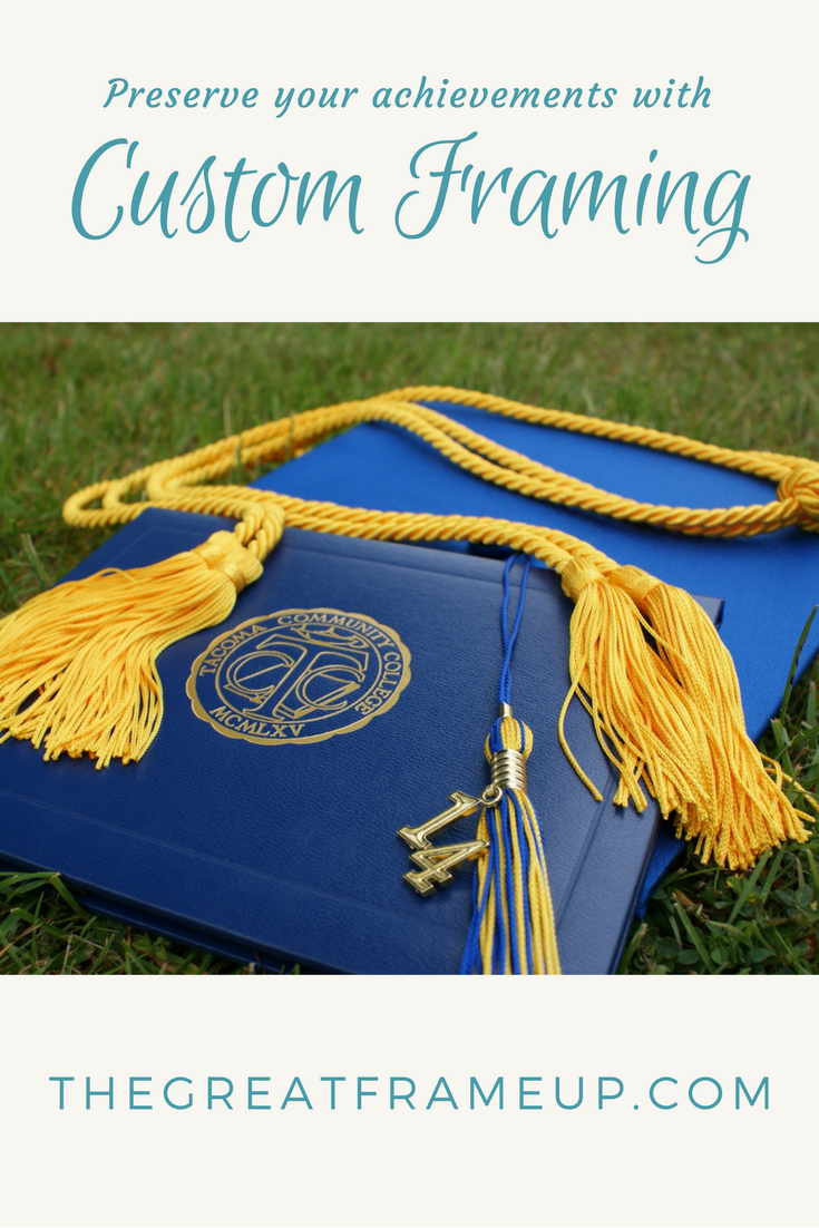 We can help preserve & display your achievements with custom framing! #graduation #graduationgift #diploma #tassel #customframing #gift