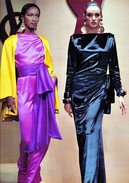 1992 - YSL show - Katoucha & Helena Barquilla