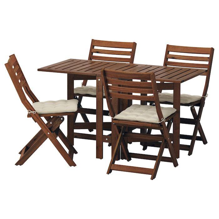 Ikea Applaro Table 4 Chaises Pliantes Exterieur Chaise Pliante