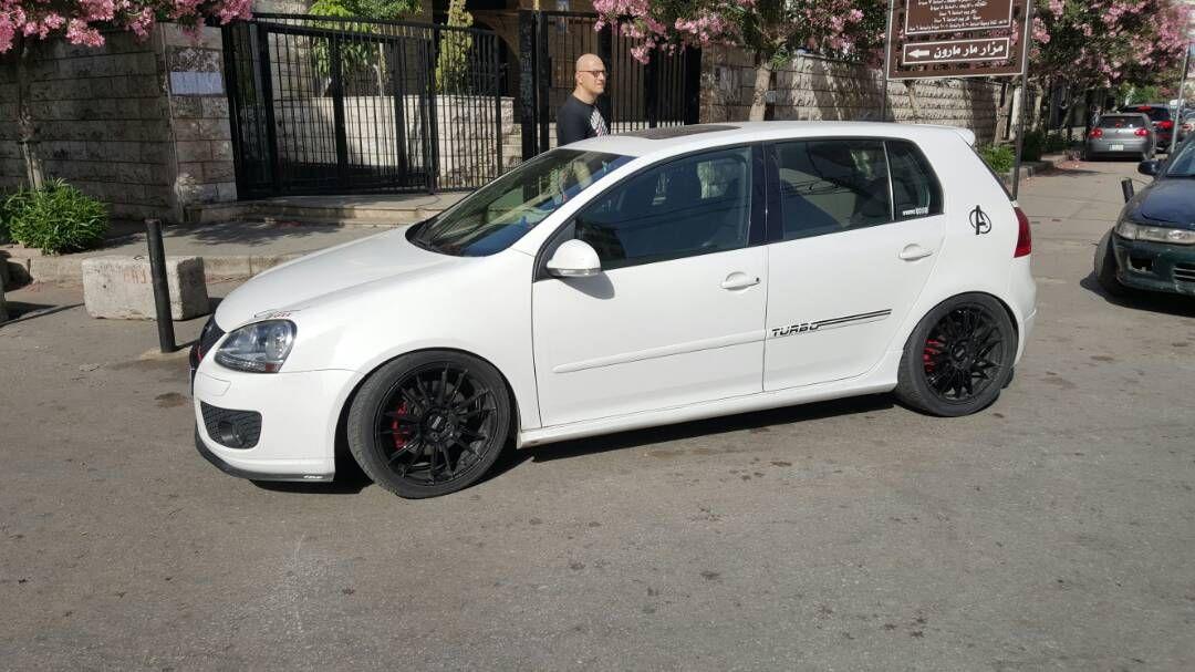 Vw Mk5 Golfv Golf 5 Gti Vwnation Volkswagen Turbo White Sportscar Modified Lowered