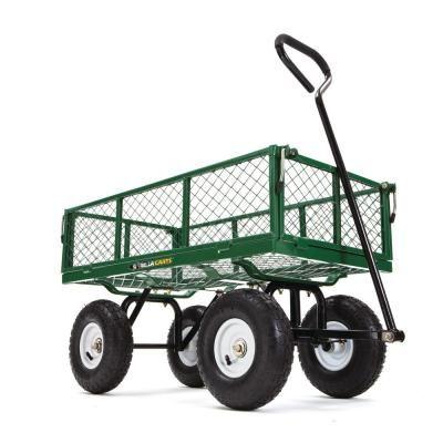 Gorilla Carts 400 Lb Steel Utility Cart Wheelbarrow Utility Cart Garden Cart