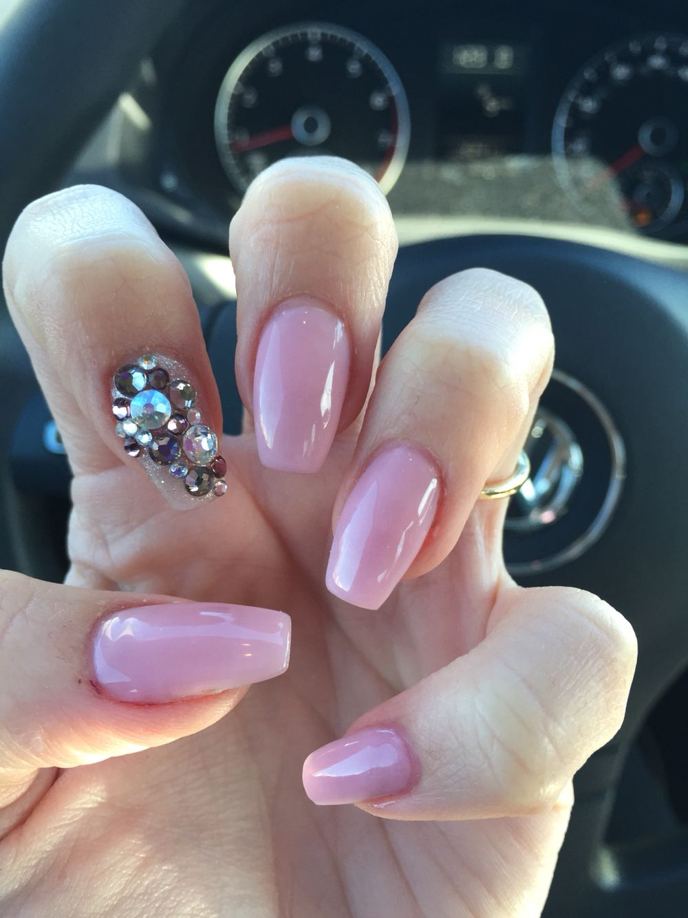 Nails by Lauren ballerina shaped nails or coffin shaped nails with ...
