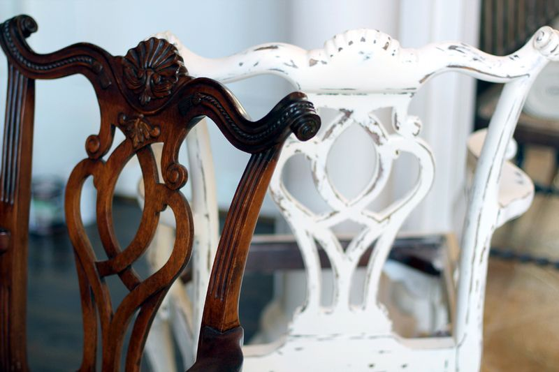 anne sloan chalk paint can turn your dark furniture into a beautifully distressed piece