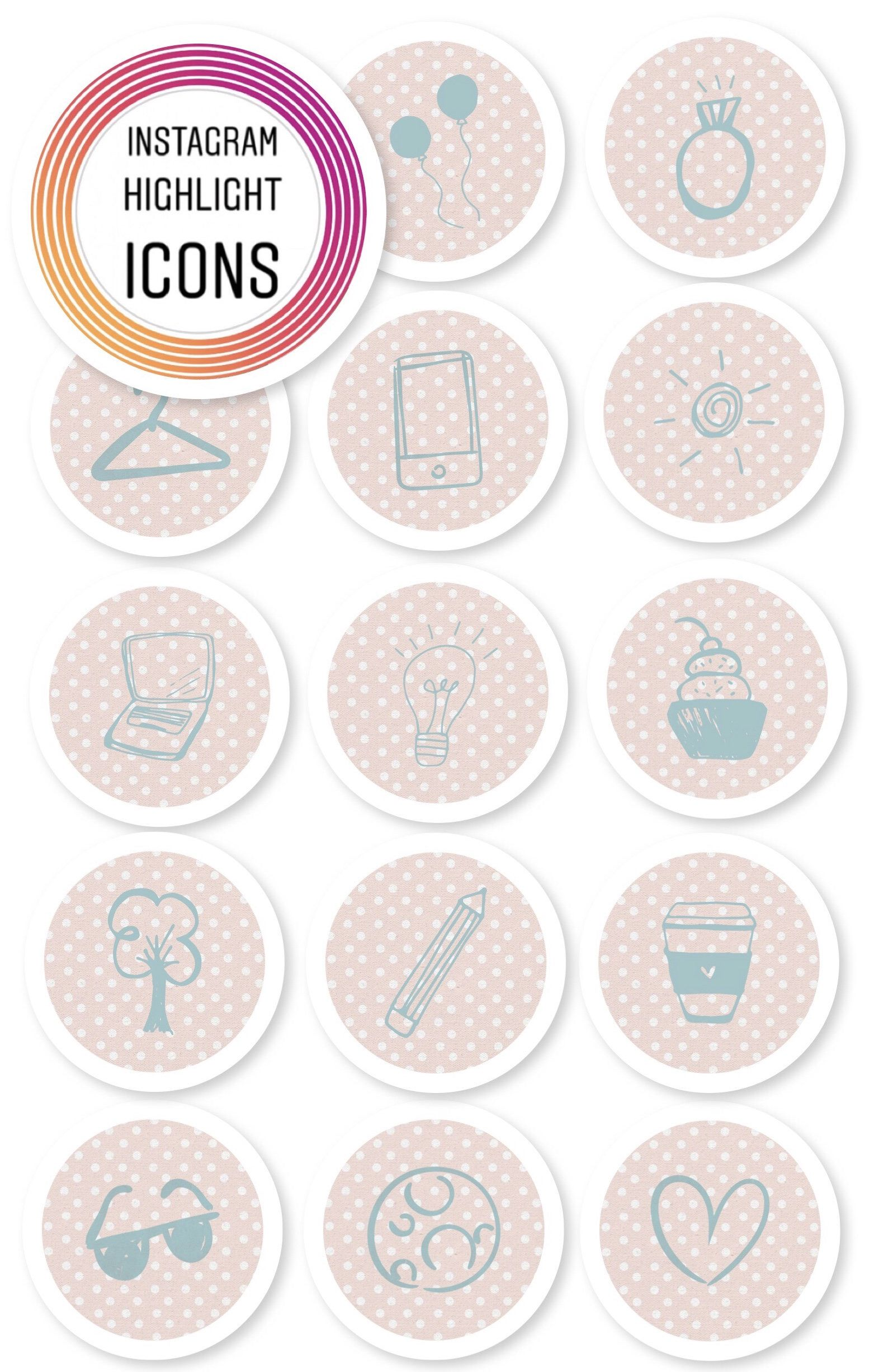 Instagram Highlight Icons Lifestyle set Light Pink
