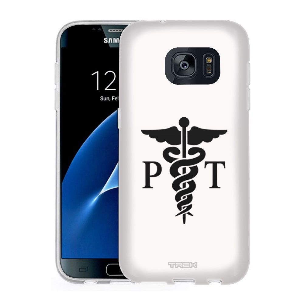 timeless design bb2fa e6775 Samsung Galaxy S7 Silhouette PT Physical Therapist on White Slim ...