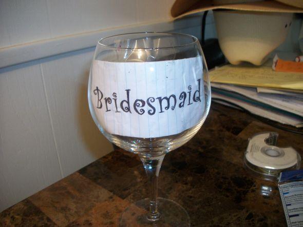 Diy Bridesmaids Gifts Wedding Bridesmaid Template Wine Gles